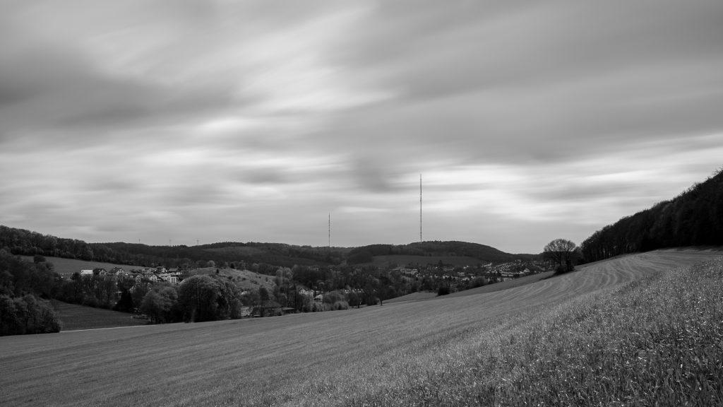 Blick auf den Langenberger Sender