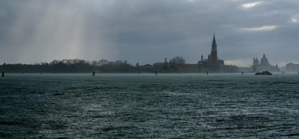 Regen über San Giorgio Maggiore